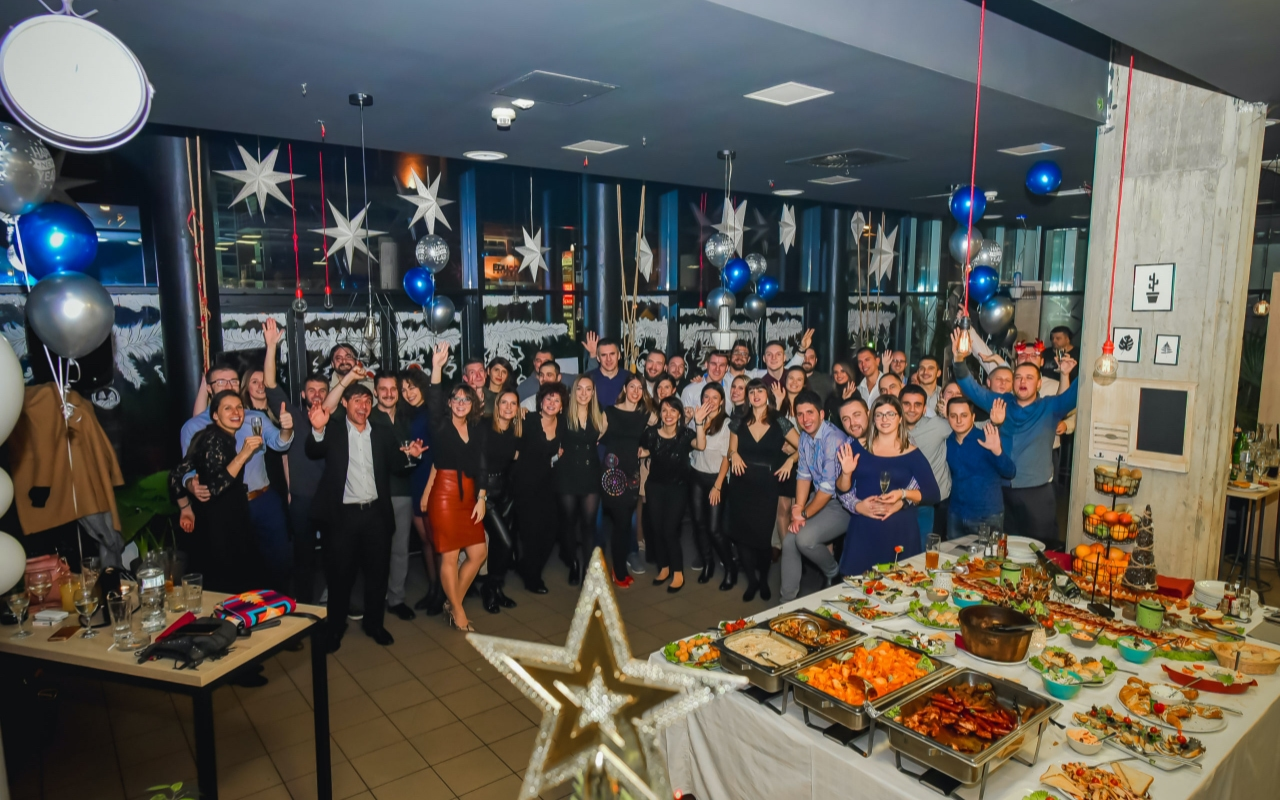 Invenda team at the New Years party